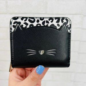 Kate Spade Meow Cat Small Zip Around Wallet